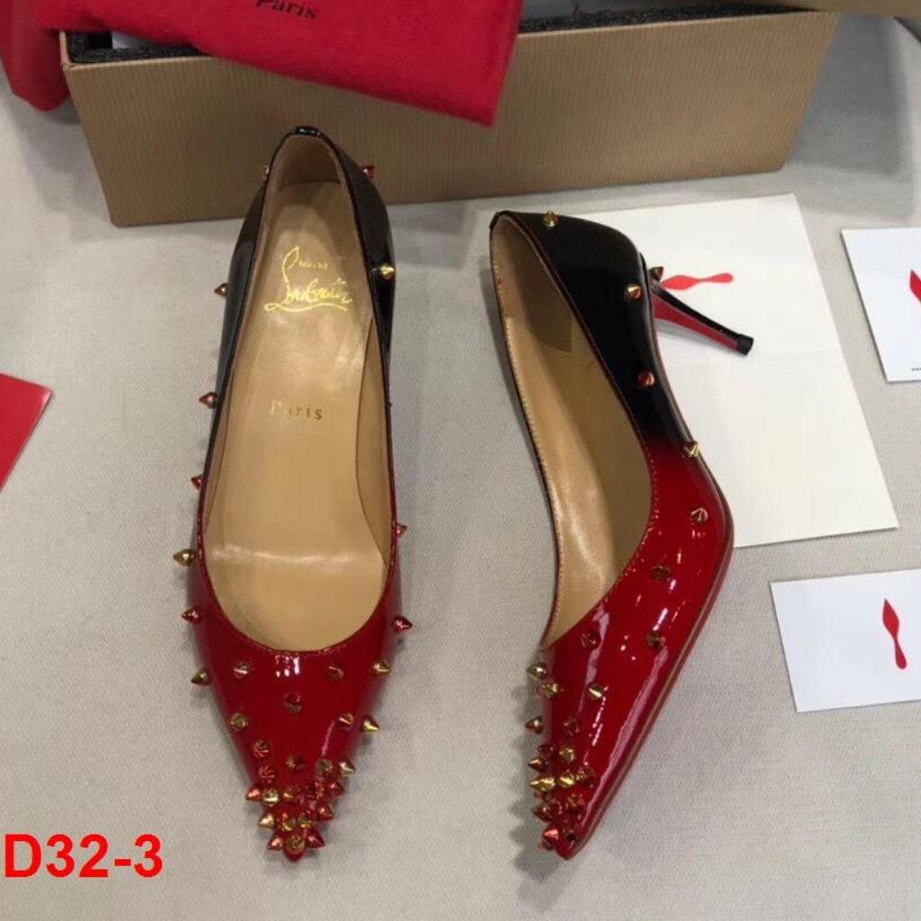 D32-3 Louboutin giày cao 6cm siêu cấp