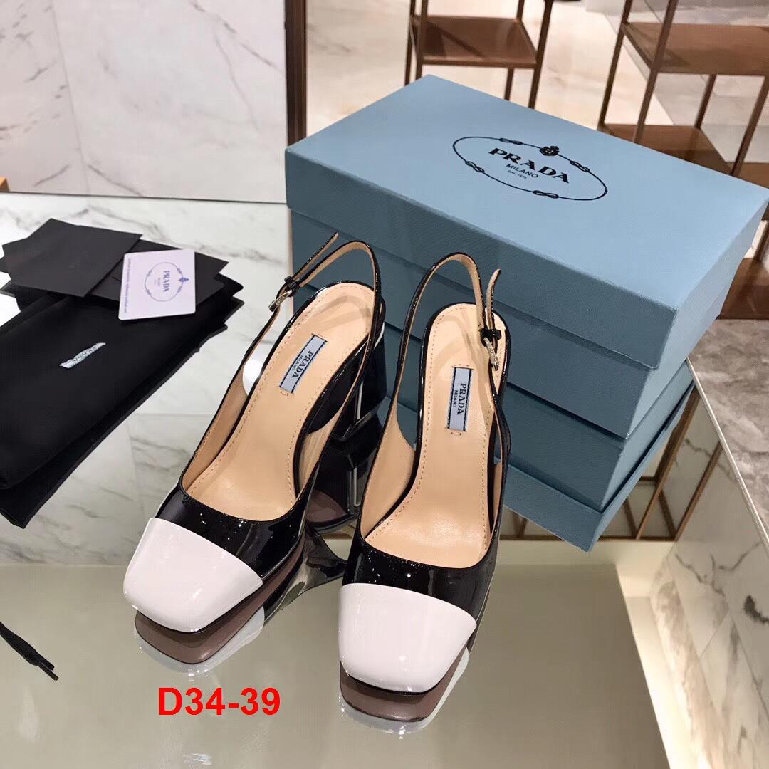 D34-39 Prada sandal cao 9cm siêu cấp