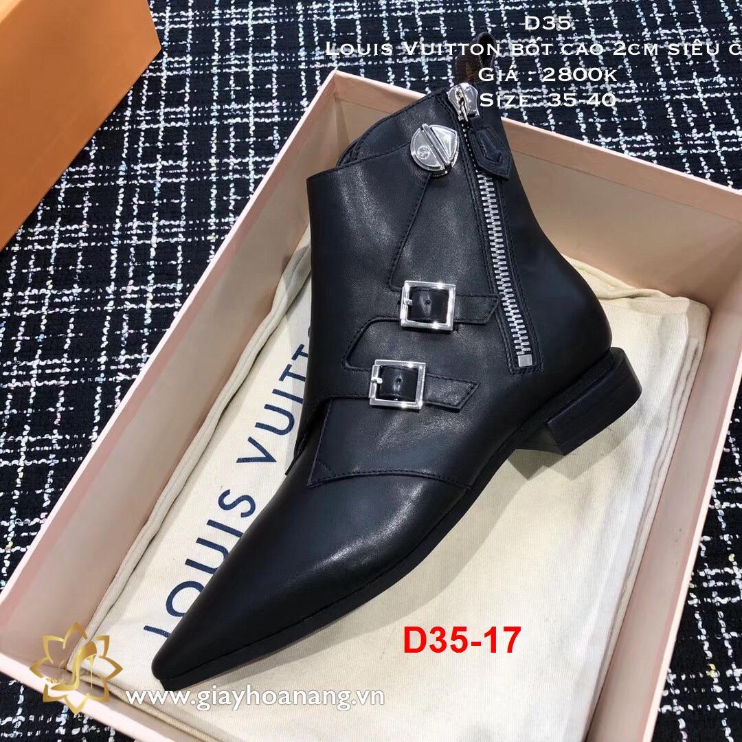 D35-17 Louis Vuitton bốt cao 2cm siêu cấp