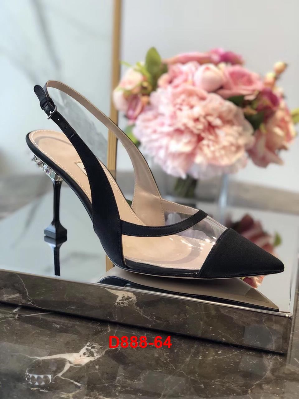 D888-64 Miu Miu sandal cao 9cm siêu cấp