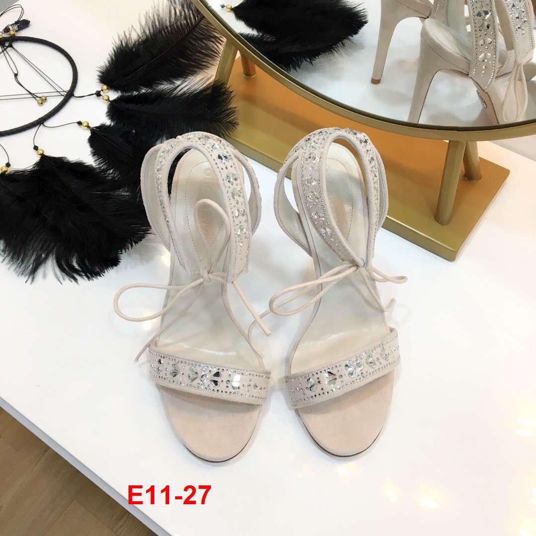 E11-27 Sandal cao 10cm đế kếp 2cm siêu cấp