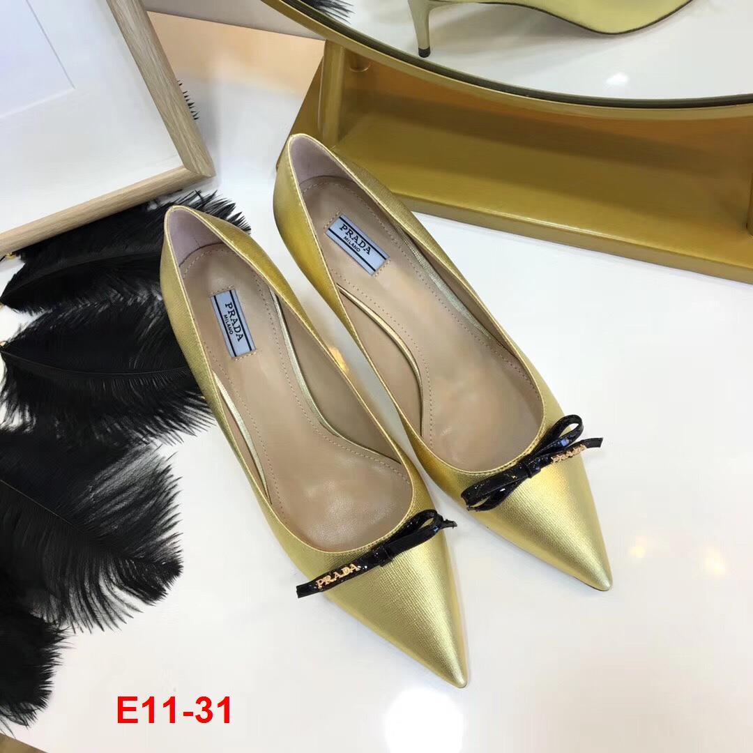 E11-31 Prada giày cao 5cm siêu cấp