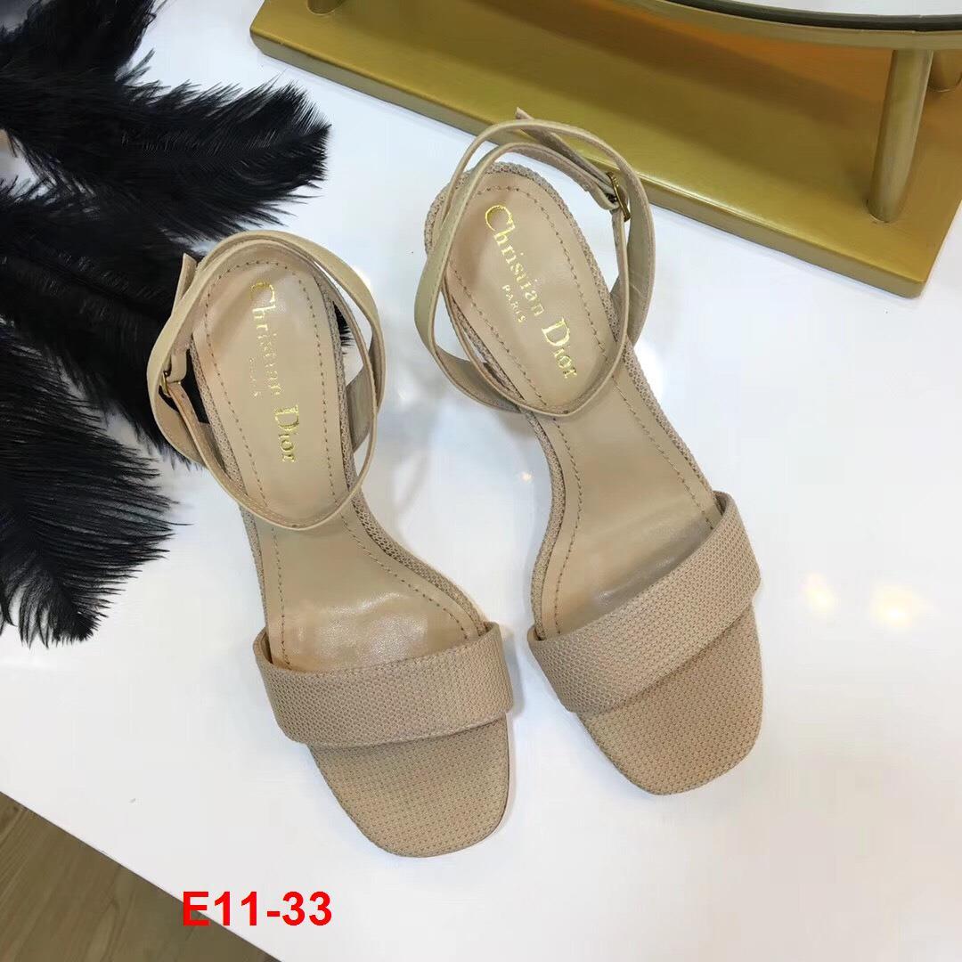 E11-33 Dior sandal cao 6cm siêu cấp