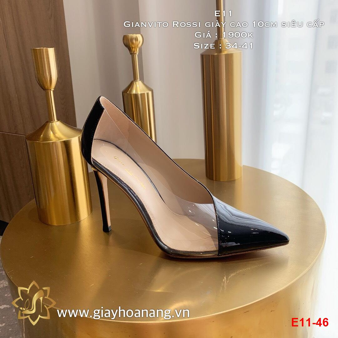 E11-46 Gianvito Rossi giày cao 10cm siêu cấp