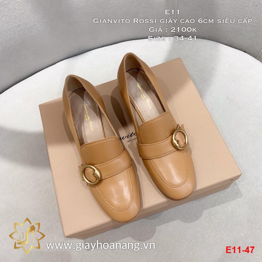 E11-47 Gianvito Rossi giày cao 6cm siêu cấp