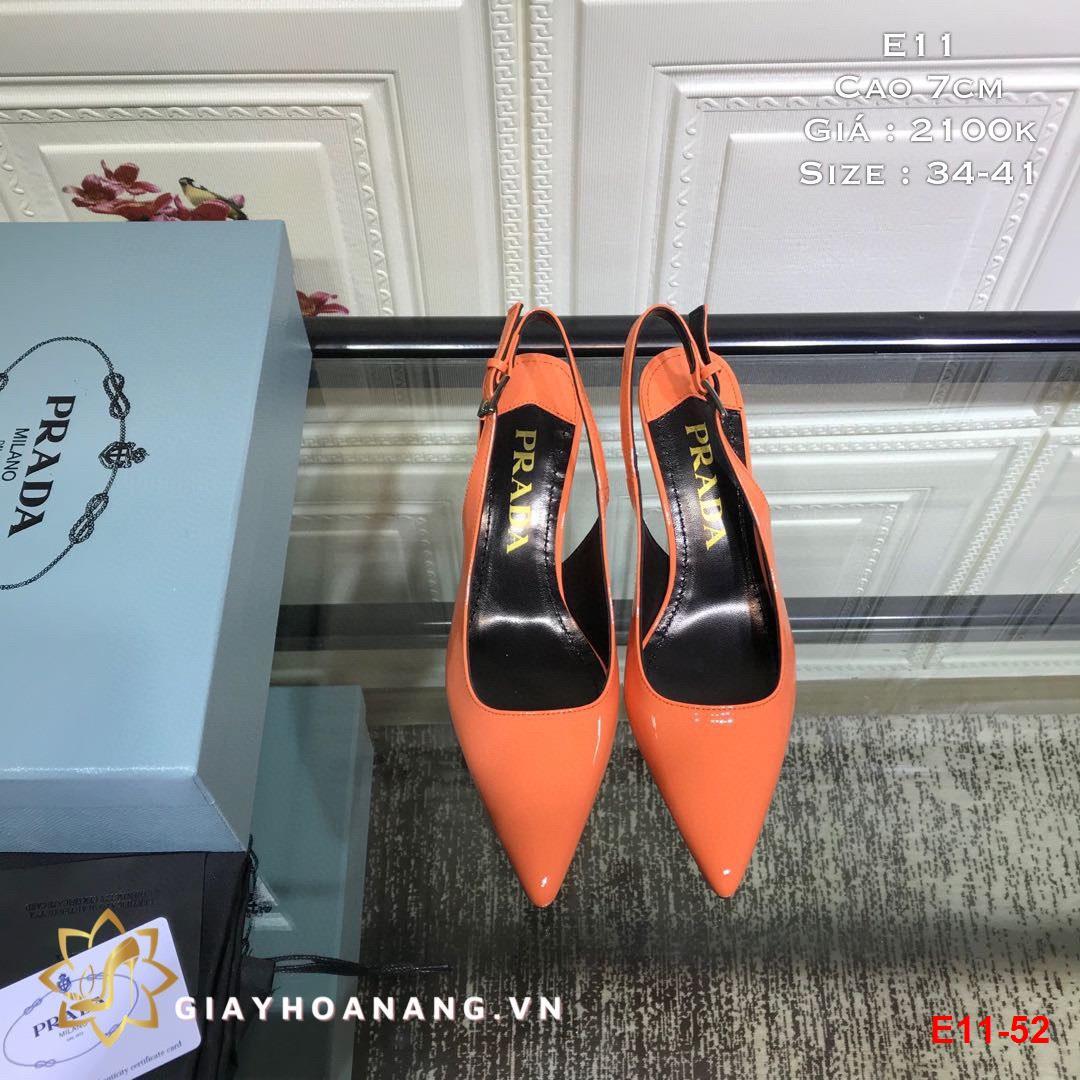 E11-52 Prada sandal cao 7cm siêu cấp