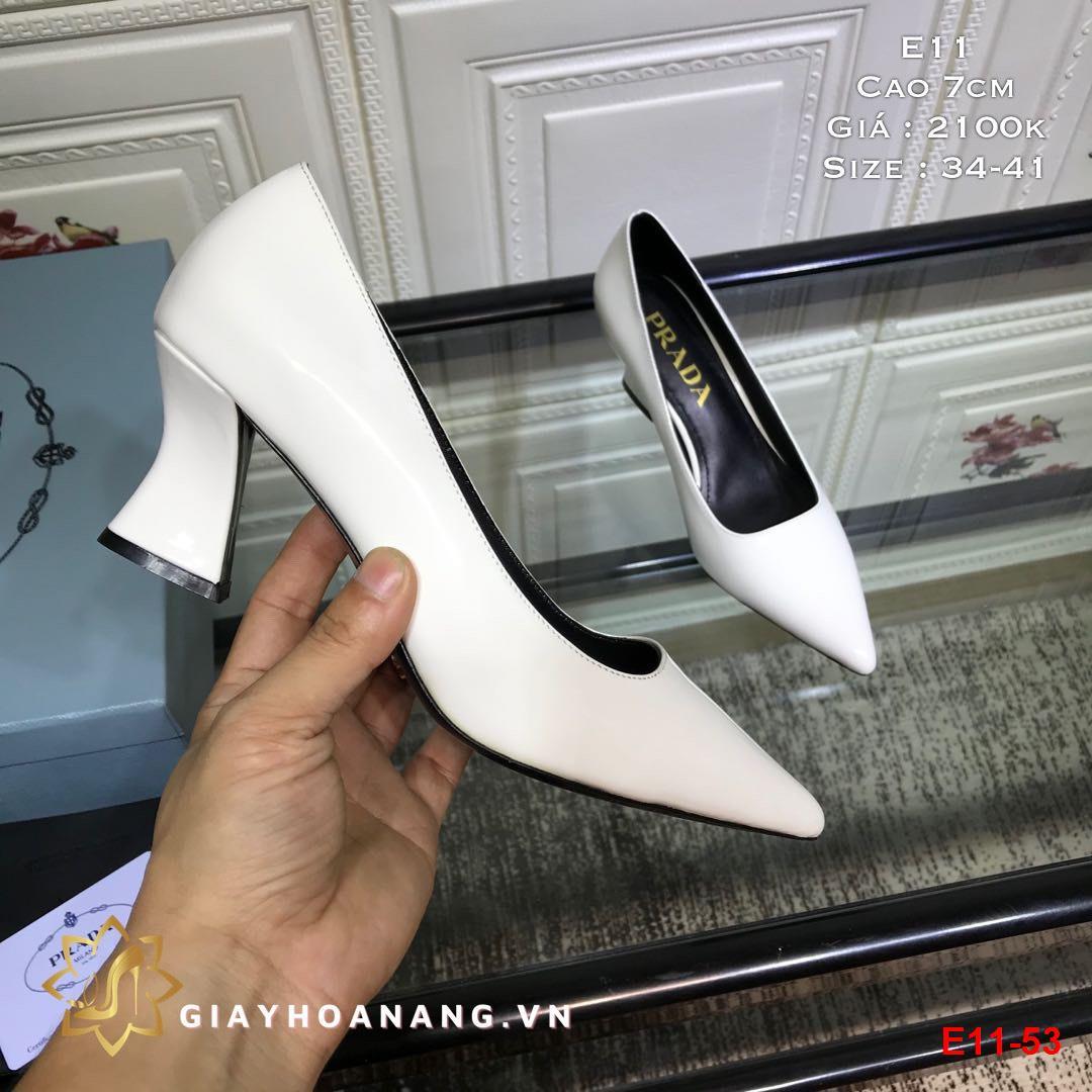 E11-53 Prada giày cao 7cm siêu cấp