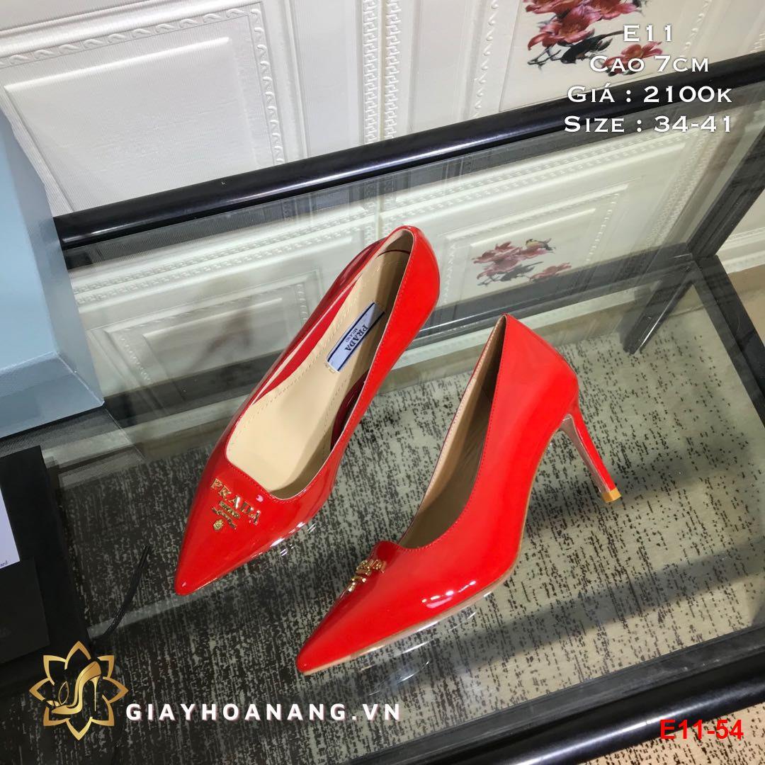 E11-54 Prada giày cao 7cm siêu cấp