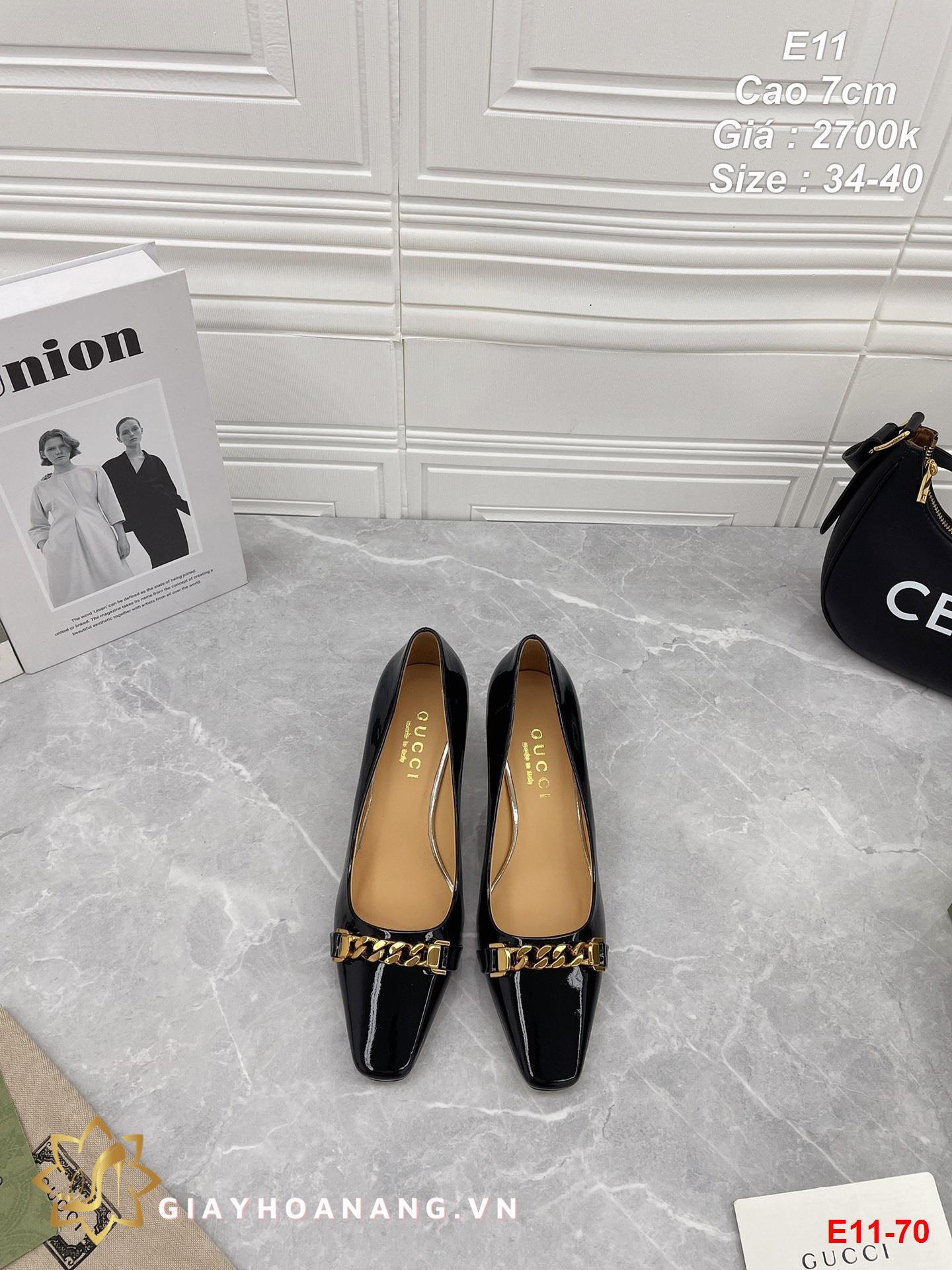 E11-70 Gucci giày cao 7cm siêu cấp