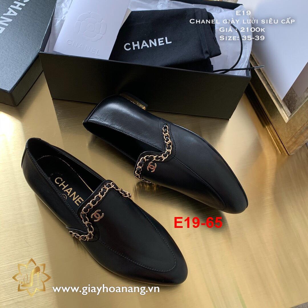 E19-65 Chanel giày lười siêu cấp