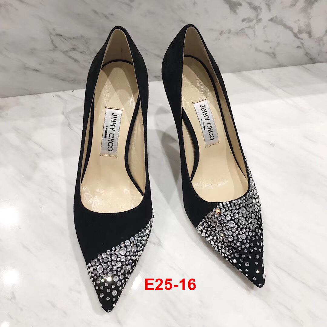 E25-16 Jimmy Choo giày cao 9cm siêu cấp