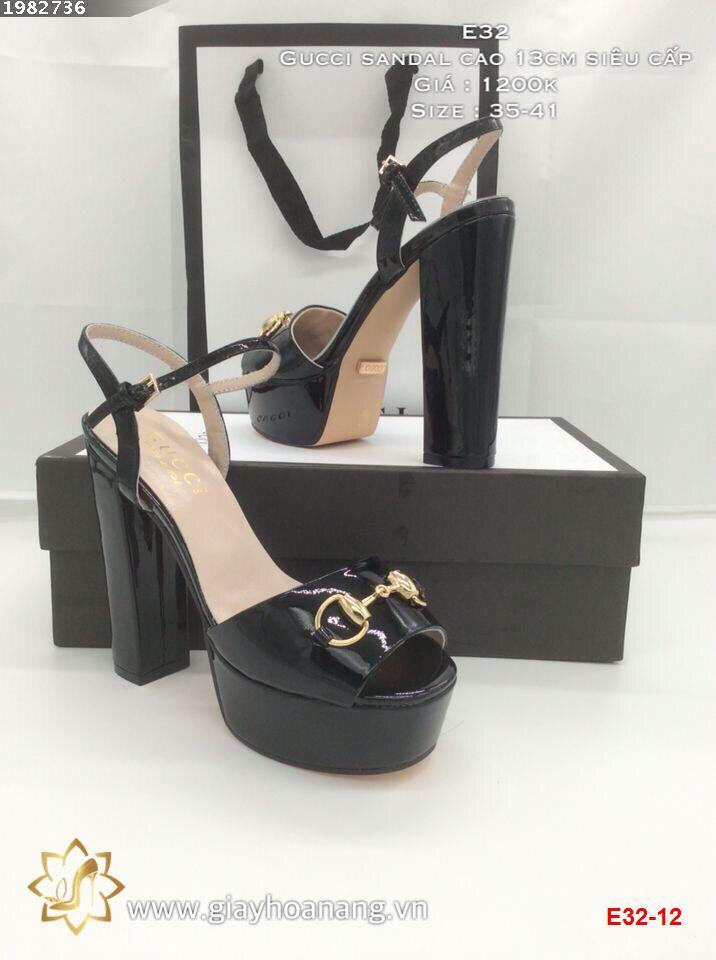 E32-12 Gucci sandal cao 13cm siêu cấp