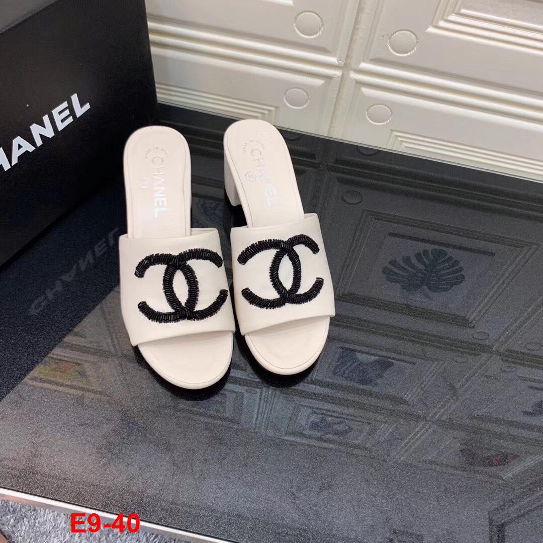 E9-40 Chanel dép cao 6cm siêu cấp