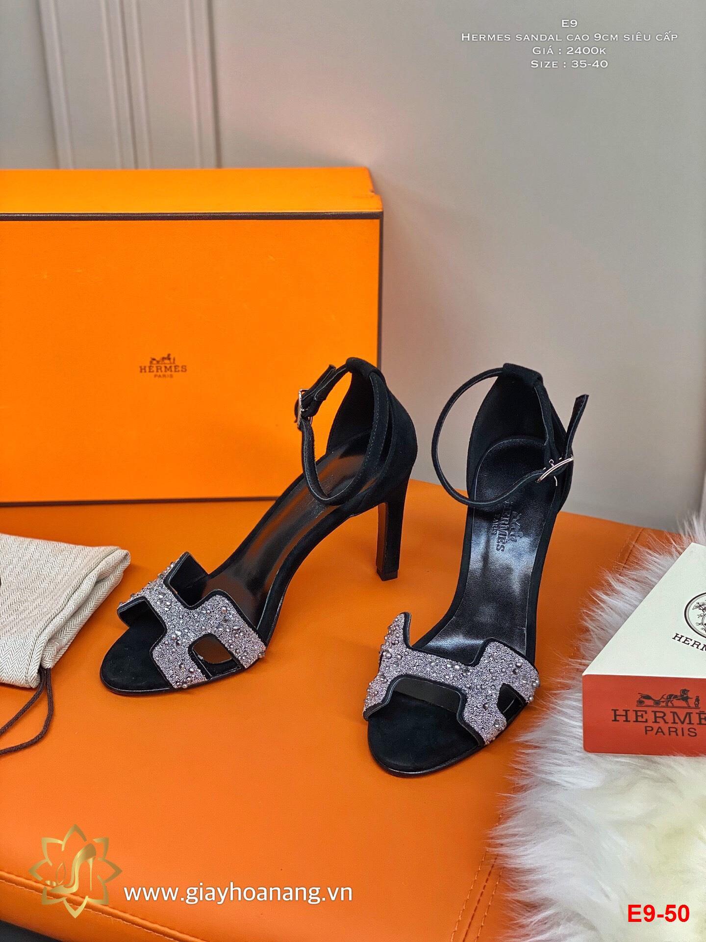 E9-50 Hermes sandal cao 9cm siêu cấp