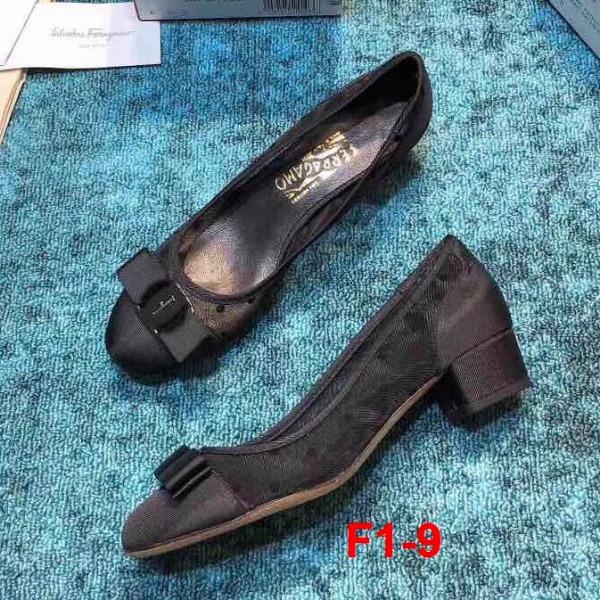F1-9 Salvatore Ferragamo giày cao 3cm siêu cấp
