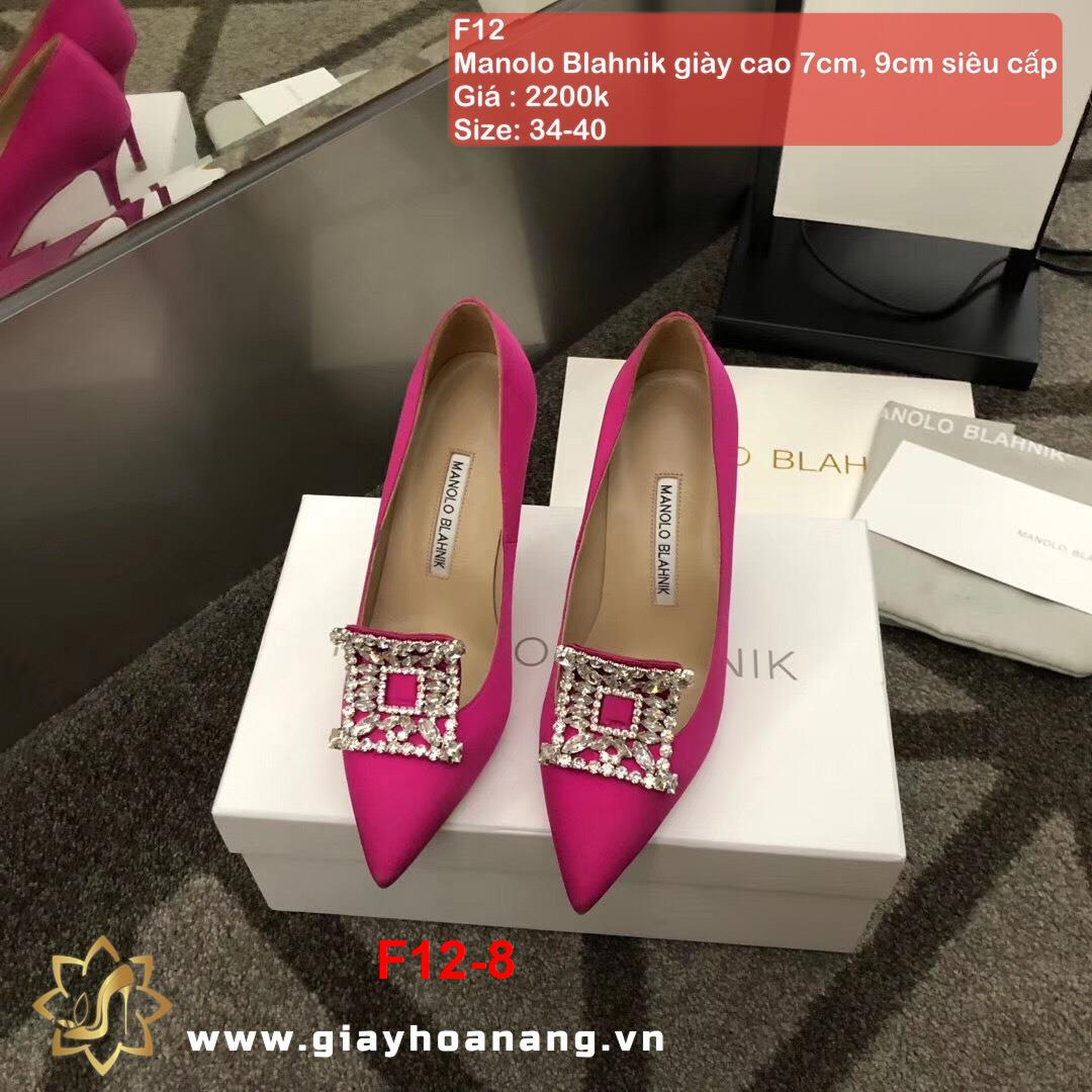 F12-8 Manolo Blahnik giày cao 7cm, 9cm siêu cấp