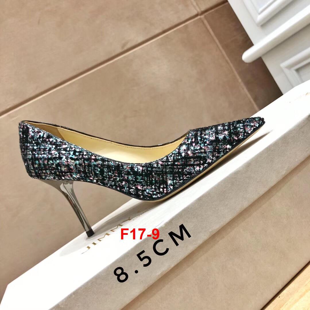 F17-9 Jimmy Choo giày cao 6cm, 9cm siêu cấp