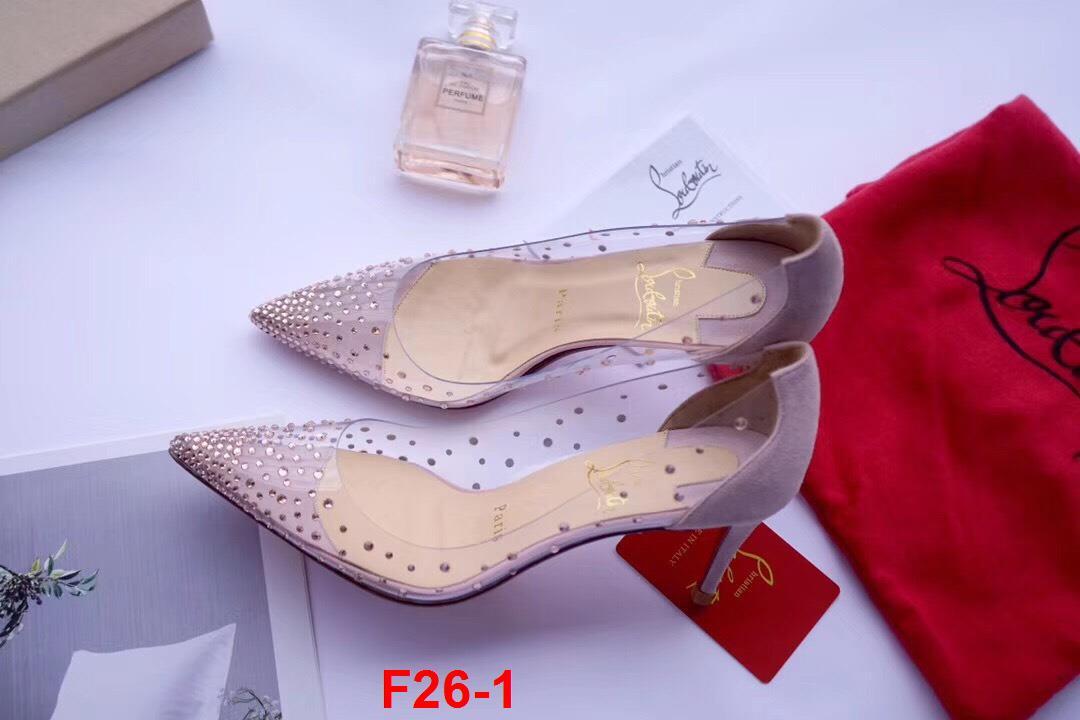 F26-1 Louboutin giày cao 7cm siêu cấp