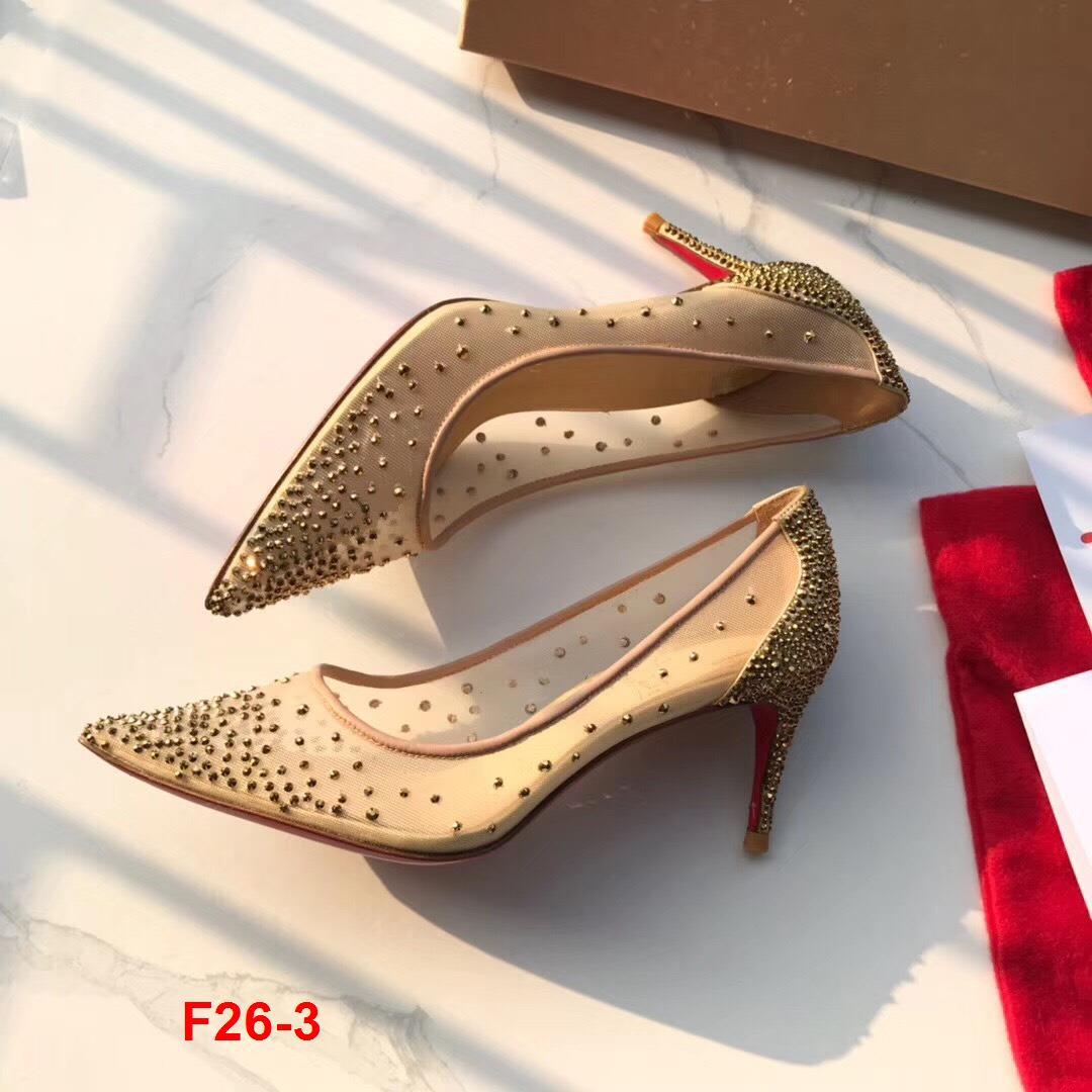 F26-3 Louboutin giày cao 6cm siêu cấp