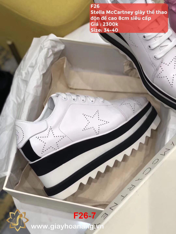 F26-7 Stella McCartney giày thể thao độn đế cao 8cm siêu cấp