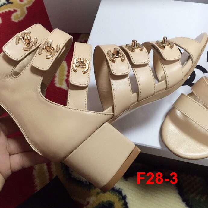 F28-3 Chanel sandal cao 5cm siêu cấp