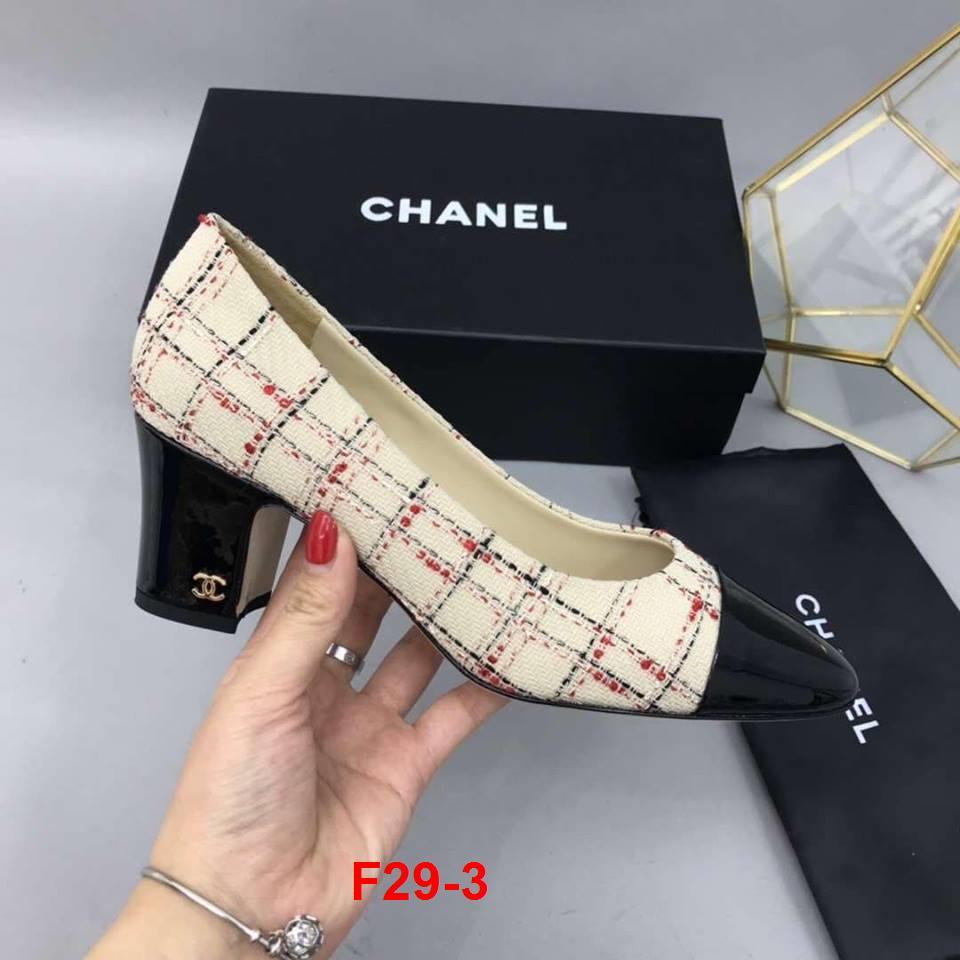 F29-3 Chanel giày cao 5cm siêu cấp