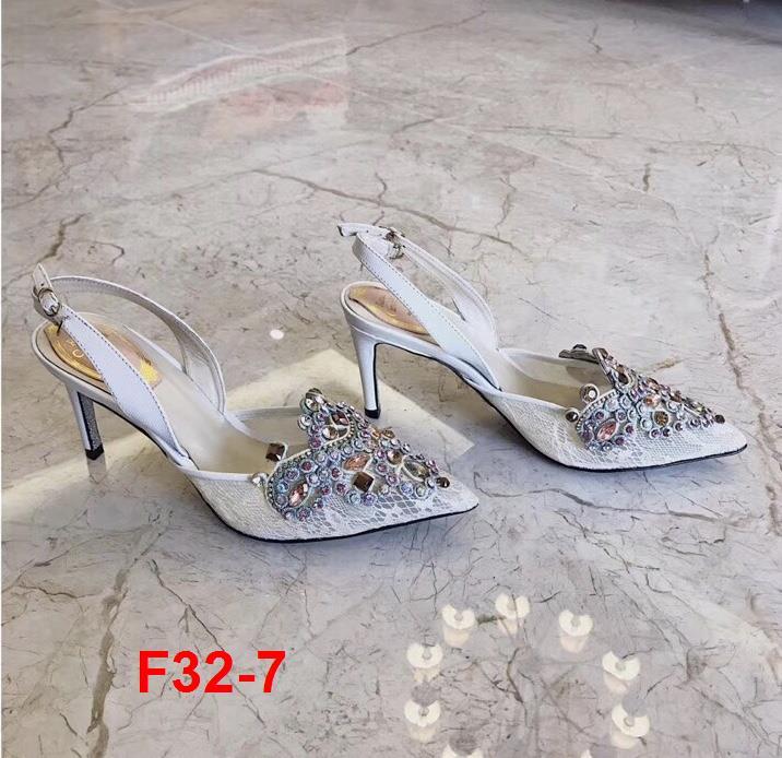 F32-7 Rene Caovilla RC sandal cao 8cm siêu cấp