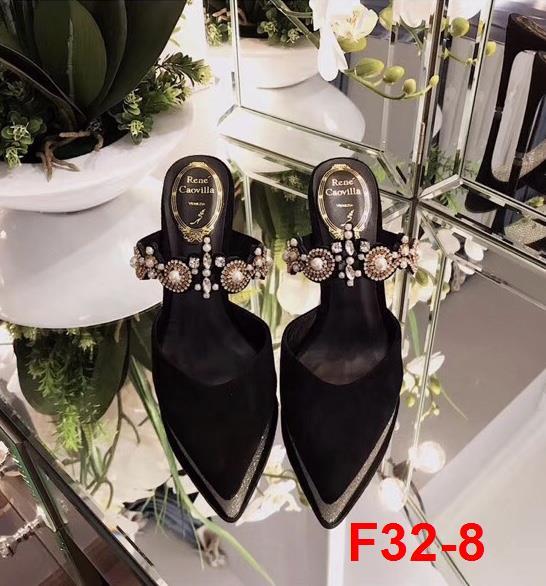 F32-8 Rene Caovilla RC sandal cao 10cm siêu cấp
