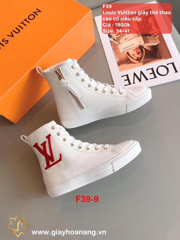F39-9 Louis Vuitton giày thể thao cao cổ siêu cấp