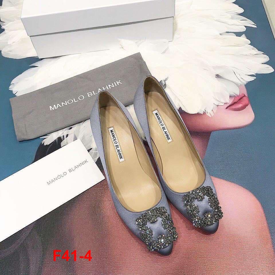 F41-4 Manolo Blahnik giày cao 7cm, 9cm siêu cấp