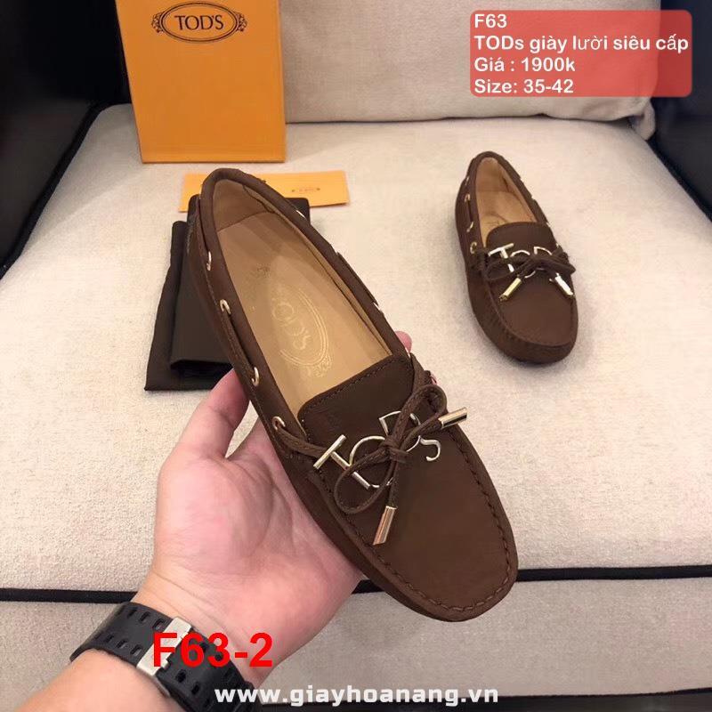F63-2 TODs giày lười siêu cấp