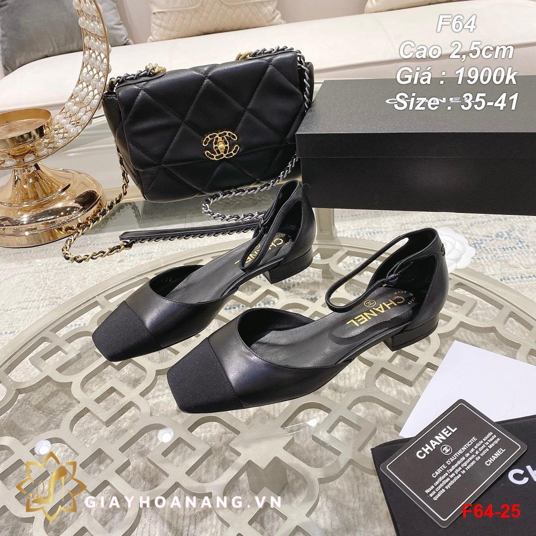 F64-25 Chanel sandal cao 2,5cm siêu cấp