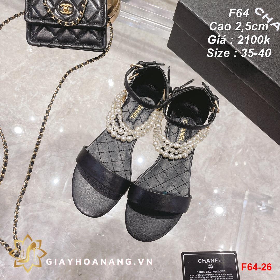 F64-26 Chanel sandal cao 2,5cm siêu cấp