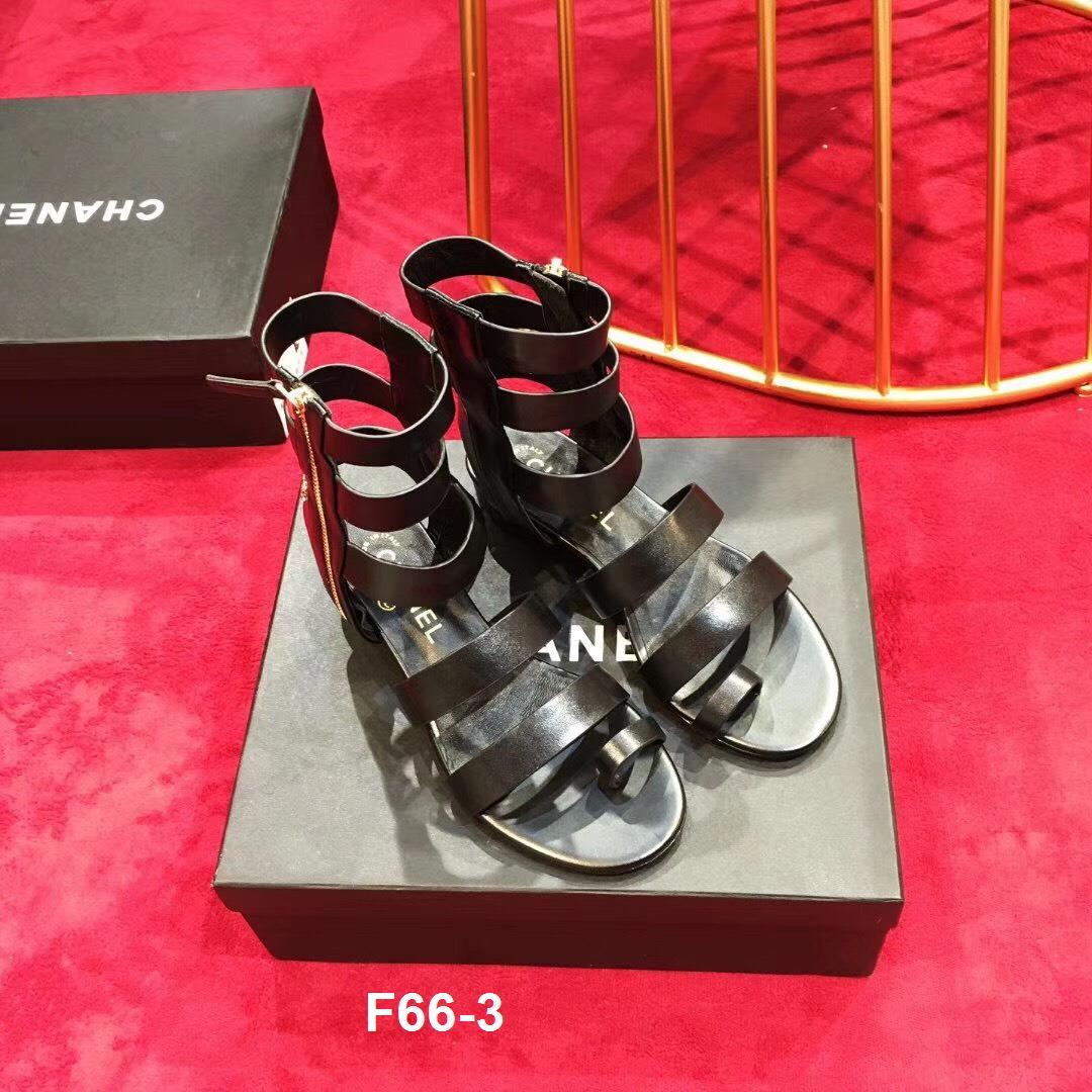 F66-3 Chanel sandal cao 3cm siêu cấp