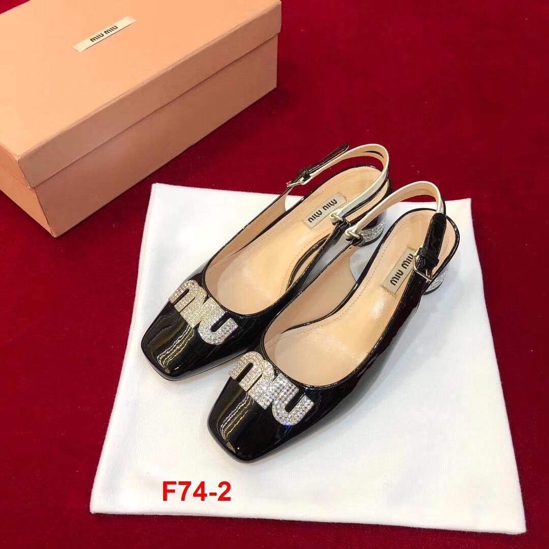 F74-2 Miu Miu sandal cao 5cm siêu cấp