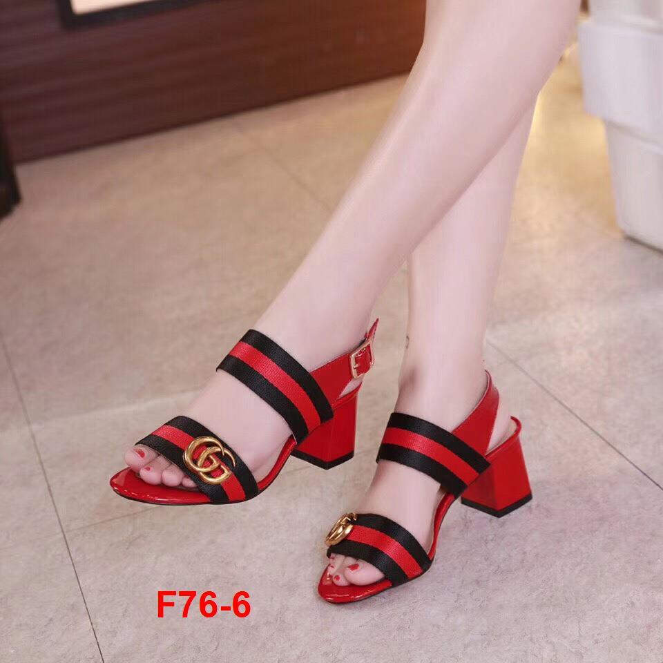 F76-6 Gucci sandal cao 6cm siêu cấp
