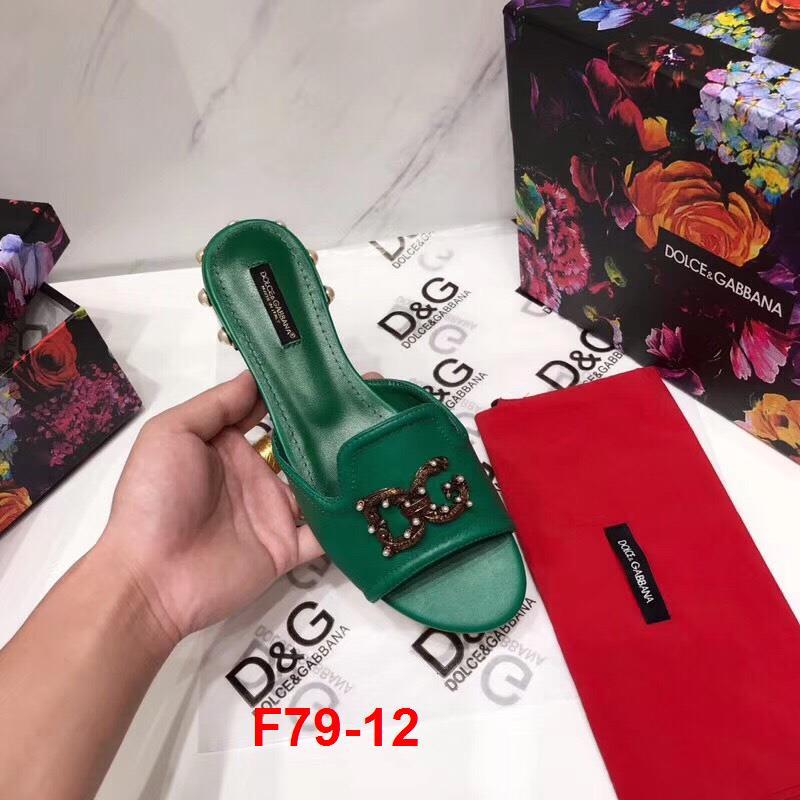 F79-12 Dolce Gabbana dép cao 1cm siêu cấp