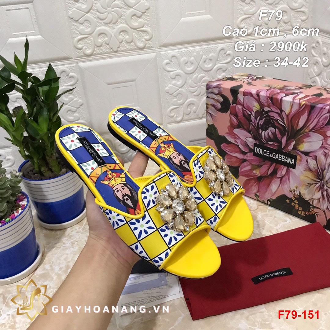 F79-151 Dolce & Gabbana dép cao 1cm , 6cm siêu cấp
