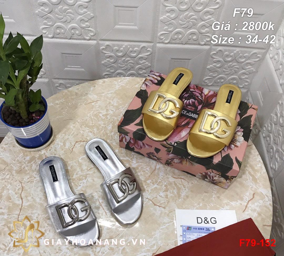 F79-152 Dolce & Gabbana dép bệt siêu cấp