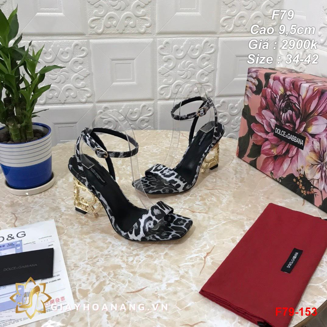 F79-153 Dolce & Gabbana sandal cao 9,5cm siêu cấp