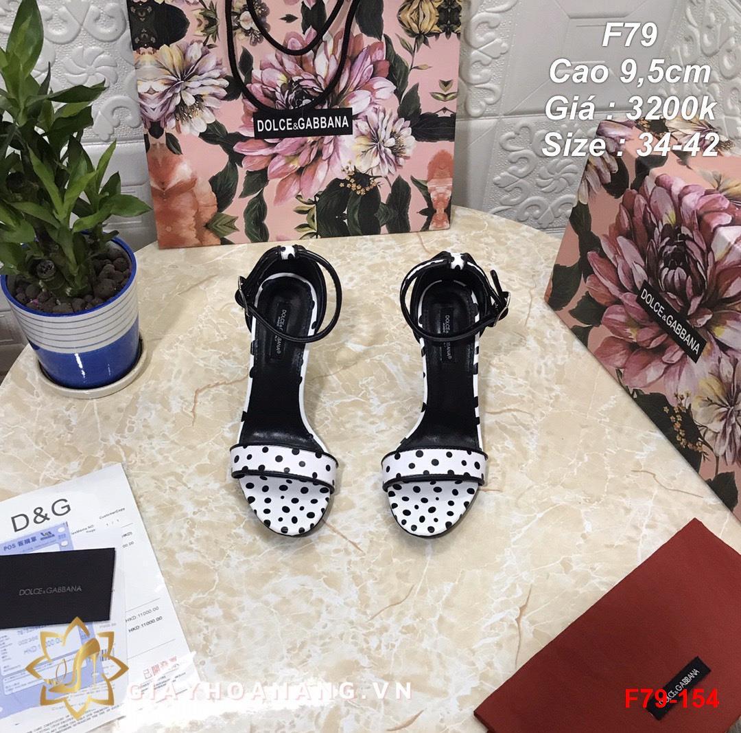 F79-154 Dolce & Gabbana sandal cao 9,5cm siêu cấp