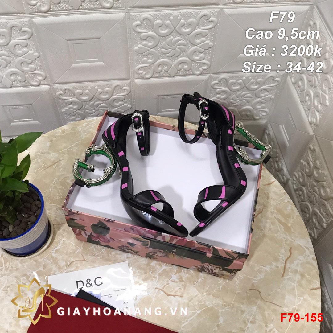 F79-155 Dolce & Gabbana sandal cao 9,5cm siêu cấp