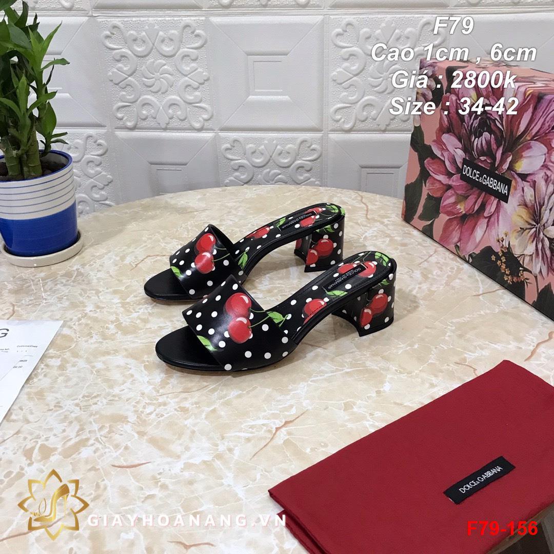 F79-156 Dolce & Gabbana dép cao 1cm , 6cm siêu cấp