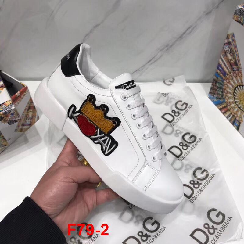 F79-2 Dolce Gabbana giày thể thao siêu cấp