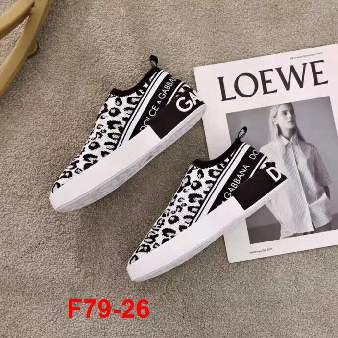 F79-26 Dolce Gabbana giày lười siêu cấp