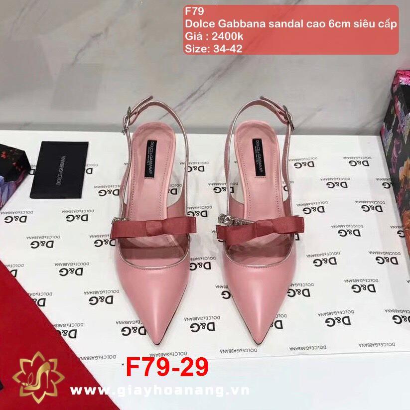 F79-29 Dolce Gabbana sandal cao 6cm siêu cấp