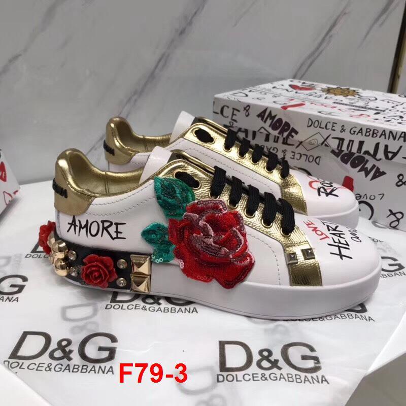 F79-3 Dolce Gabbana giày thể thao siêu cấp