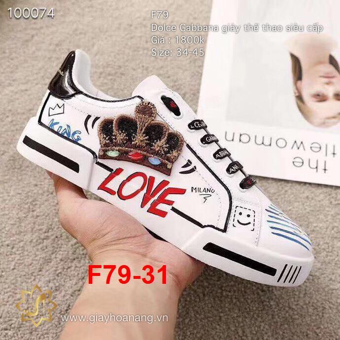 F79-31 Dolce Gabbana giày thể thao siêu cấp