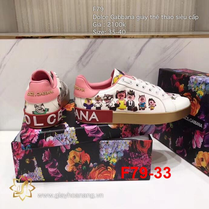 F79-33 Dolce Gabbana giày thể thao siêu cấp