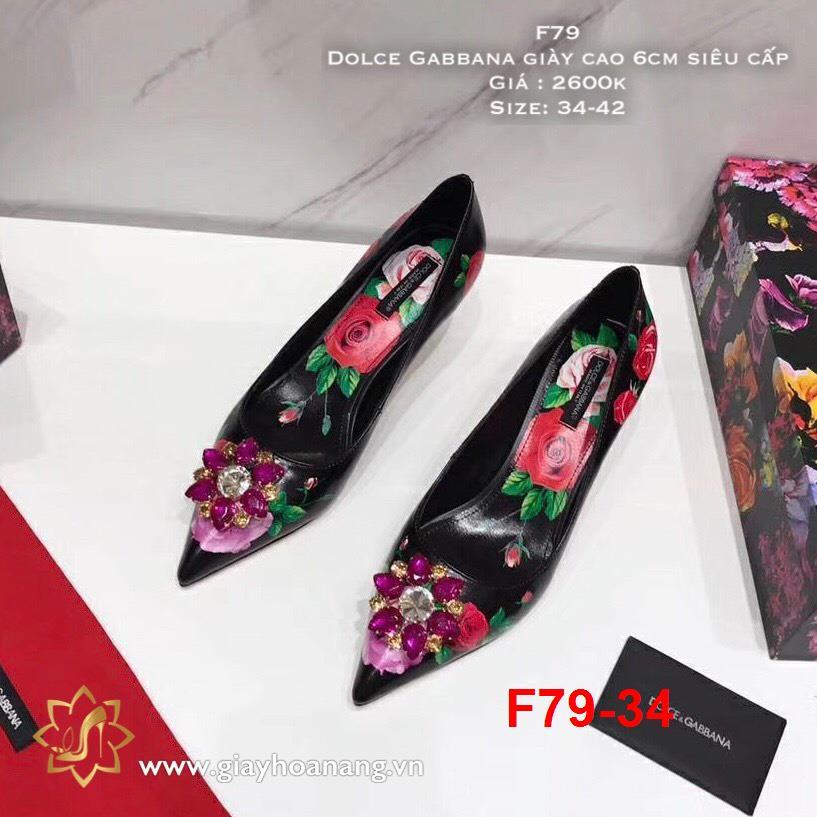 F79-34 Dolce Gabbana giày cao 6cm siêu cấp